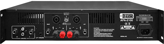 Adkins Pro Audio APA-2100 rack-mountable professional power amplifier