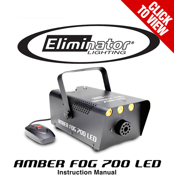 Eliminator Lighting Amber Fog 700 LED Product Manual