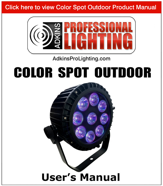 Color Spot Outdoor Product Manual