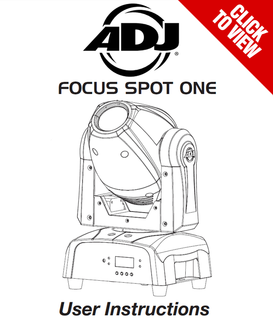 American DJ Focus Spot One product manual