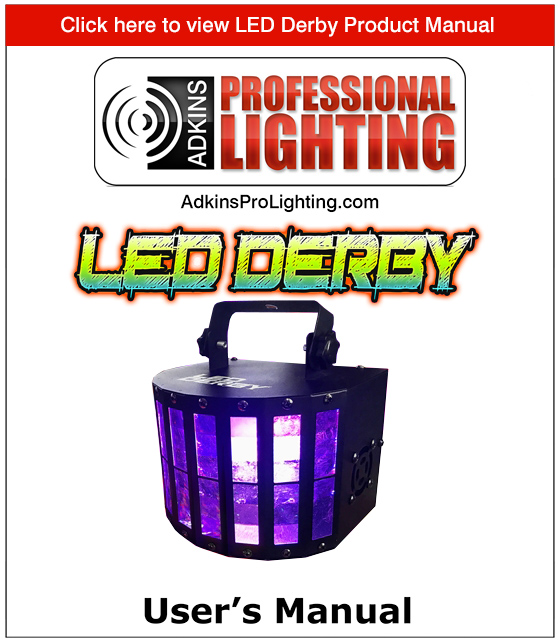 LED Derby Product Manual