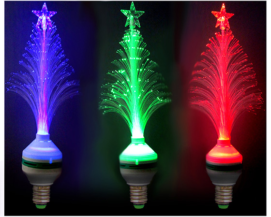 christmas trees with stars cute little star topper on each tree glow when the lights are turned on height 95 tall fits standard light socket - Christmas Tree Light Bulbs