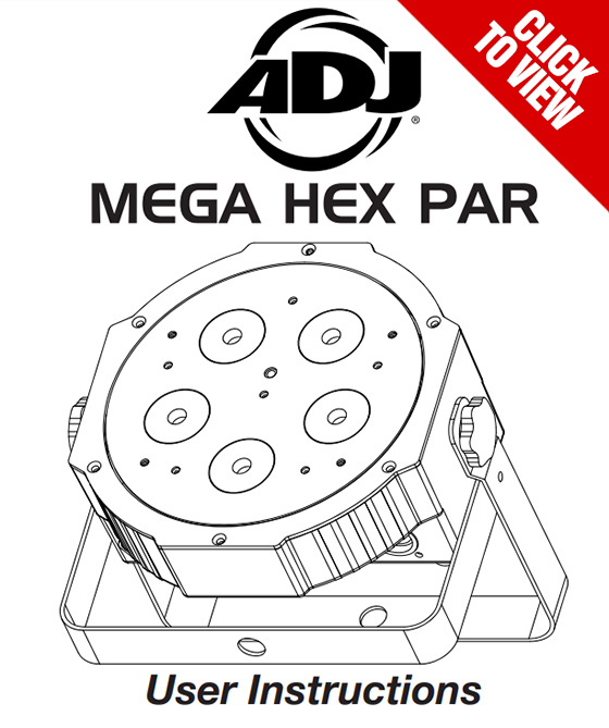 American DJ Mega Hex Par product manual