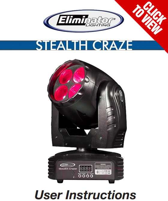Eliminator Lighting Stealth Craze product manual