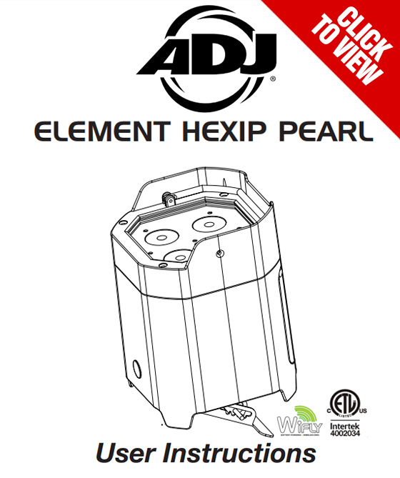 American DJ Element HexIP Pearl product manual