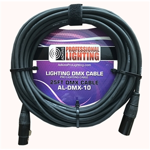 10 Foot Lighting DMX Cable - Adkins Professional Lighting