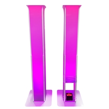 DJ Portable Glow Totems 2-Pack with Scrims and Bags – Décor Totem – Adkins Professional Lighting
