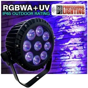 Color Spot Outdoor IP65 LED Up Light 9X18Watt RGBWA+UV