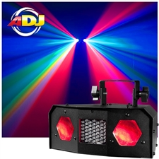 American DJ Dual Gem Pulse IR 2-in-1 Moonflower Strobe Effect