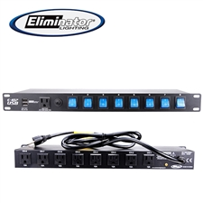 Eliminator Lighting E107 USB 8-Channel Rack Mount Power Center