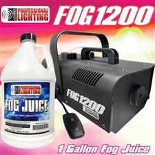 Fog Machine - 1200 Watt W/Remote - Impressive 8,000 Cubic ft. per minute - Adkins Professional Lighting FOG1200