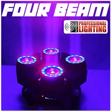 FOUR-BEAM - 4-Head Moving Beam - DJ Lighting Fixture - Adkins Professional Lighting