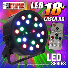 Adkins Pro Lighting LED-18-LASER-RG Color Mixing LED Par Can w/Laser