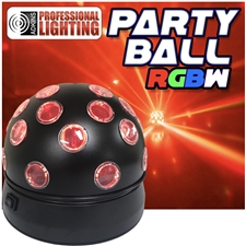 Party Ball RGBW Rotating LED Disco ball Effect Adkins Professional Lighting