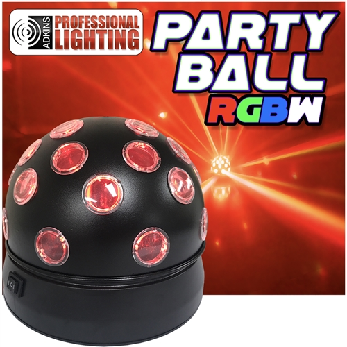 party ball rgbw rotating led disco ball effect adkins professional lighting. Black Bedroom Furniture Sets. Home Design Ideas