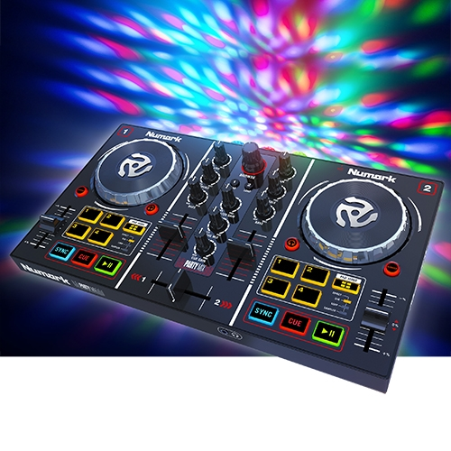 numark party mix dj controller with built in light show. Black Bedroom Furniture Sets. Home Design Ideas