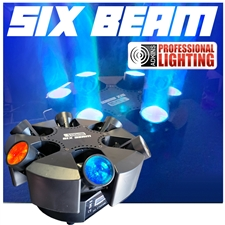 SIX-BEAM - 6-Head Moving Beam - DJ Lighting Fixture - Adkins Professional Lighting - Shoqwave X6