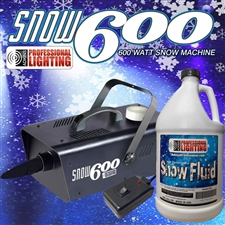 Adkins Professional Lighting Snow Machine 600 with 1 Gallon of Snow Fluid