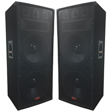 "Dual 15"" Speaker Pair 3000 Watts Total 3-way - Adkins Pro Audio - DJ Speaker - Big House Sound"