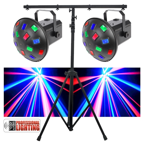Led Dj Lighting Pack Dual Led Mushroom Lights Amp Stand
