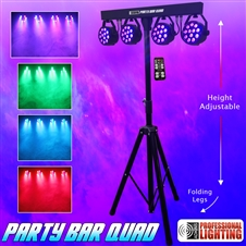 Party Bar Quad - LED DJ Lighting - Includes Stand