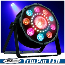 Eliminator Lighting Trio Par LED 3 in 1 Effect Light with Spot Strobe and Wash